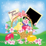 Easter card with photo frame. Stock Image
