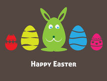 Easter card rabbit. Colorful easter card with rabbit Stock Photos