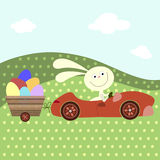 Easter card with a rabbit Royalty Free Stock Images