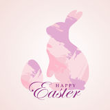 Easter card with rabbit and egg. Figured hand-drawn brush strokes. Vector illustration. Stock Images
