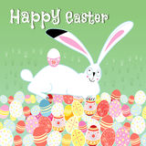 Easter card with rabbit Stock Photography