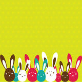 Easter card with rabbit . Vector illustration Stock Photography
