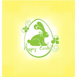 Easter card with rabbit Royalty Free Stock Image