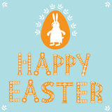 Easter card with rabbit Stock Photos