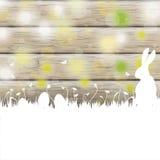 Easter Card Rabbit Wood Stock Photos
