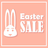 Easter card with sales on a holiday,  accompanied by shadows. With a simple thin rectangular frame. Royalty Free Stock Photography