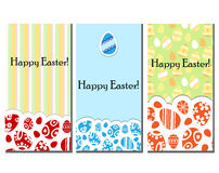 Easter card set Stock Photography