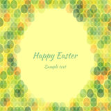 Easter card with space for text. On colorful background, vector illustration Stock Images