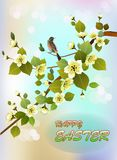 Easter card with  spring flowers stock photography