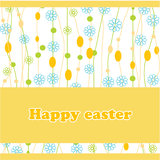 Easter card with spring landscape. Royalty Free Stock Photos