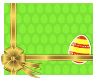 Easter card with a sticker egg. Stock Images