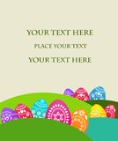 Easter card template - 2 Stock Photo