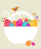 Easter card template - 9 Stock Image