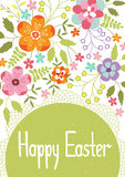 Easter card template Stock Image