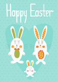 Easter card template Stock Photography