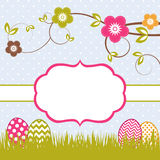 Easter card template Royalty Free Stock Photos