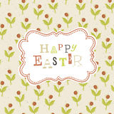 Easter card template with red berry seamless patte Stock Image