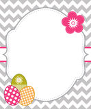 Easter card. Template with white frame for your text royalty free illustration