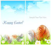 Easter card & text Royalty Free Stock Photos