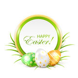 Easter card with three eggs Royalty Free Stock Image
