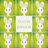 Easter card in vector format. Bright Easter Bunny card in vector format. Words translate to `Happy Easter royalty free illustration