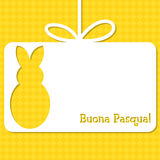 Easter card in vector format. Easter cut out tag card in vector format. Words translate to `Happy Easter royalty free illustration