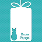 Easter card in vector format. Easter cut out tag card in vector format. Words translate to `Happy Easter stock illustration