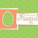 Easter card in vector format. Funky Italian Easter egg card in vector format. Words translate to `Happy Easter vector illustration
