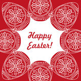 Easter card vector illustration, a pattern of painted Easter egg Stock Photos