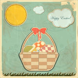 Easter card in vintage style Royalty Free Stock Image