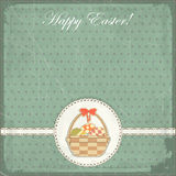 Easter card in vintage style Stock Photos