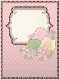 Easter card in vintage style Stock Photo