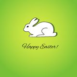 Easter card with white rabbit. Easter greeting card with cute white rabbit Royalty Free Stock Images