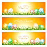 Easter cards with eggs Stock Photo