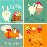 Easter Cards Set Stock Photography