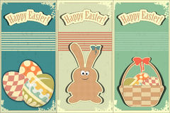Easter cards in vintage style Stock Photo