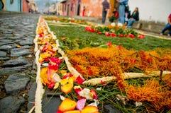 Easter carpet in antigua guatemala Stock Photos
