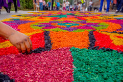 Easter carpets in antigua guatemala Royalty Free Stock Photos