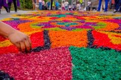 Easter carpets in antigua guatemala royalty free stock photos