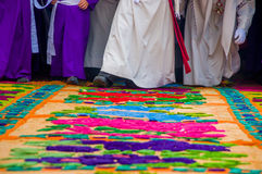 Easter carpets in antigua guatemala Stock Images