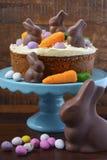 Easter Carrot Cake Stock Photos