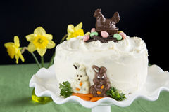 Easter Carrot Cake Royalty Free Stock Photo