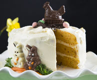 Easter Carrot Cake Royalty Free Stock Photography