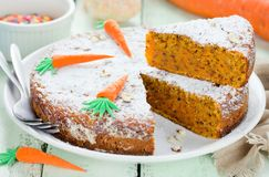 Easter carrot cake. For Easter royalty free stock images