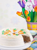 Easter Carrot Cake Stock Photography