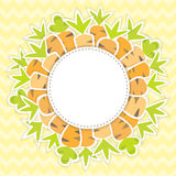 Easter carrots pattern on a yellow Royalty Free Stock Photos