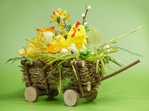 Easter cart Royalty Free Stock Images