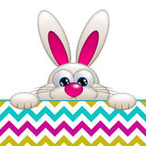 Easter cartoon bunny with place for text Royalty Free Stock Image