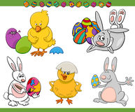 Easter cartoon characters set Royalty Free Stock Photography