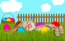 Easter cartoon greeting card Stock Photo
